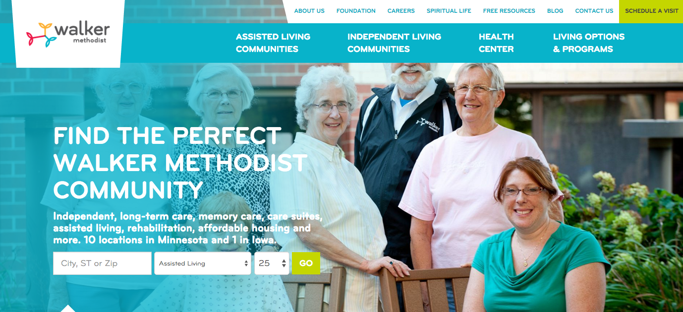 Walker Methodist Presents: Our New Website