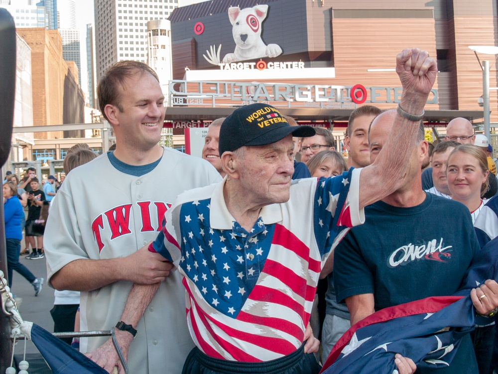 93-Year-Old Walker Methodist Resident Featured as Flag Raiser