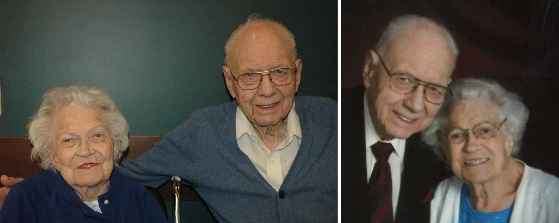 Bill and Caroline Pilgram: 76 years together